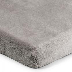 4Home prestieradlo mikroflanel sivá, 160 x 200 cm, 160 x 200 cm