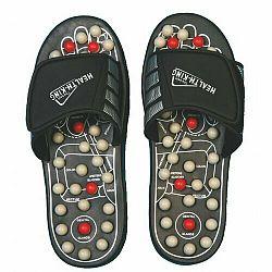 Akupresúrne masážne papuče suché zipsy (nanotextilia s magnetmi) - SJH 314A