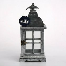 Altom Drevený dekoratívny závesný lampáš Luren, 14 x 14 x 31 cm