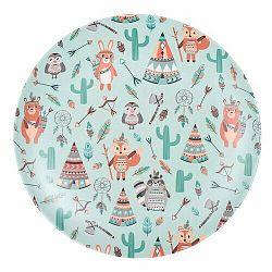 Bambusový tanier Indian 25 cm, zelená