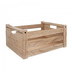 Bednička drevo dekorácia A NATURAL 31x21x14 cm