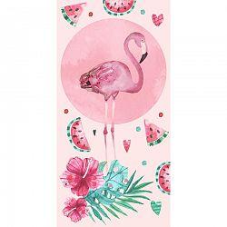 CARBOTEX Osuška Ružový Plameniak, 70 x 140 cm