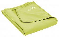 CATTARA BEACH rýchloschnúci plážový uterák 70 x 140 cm zelený