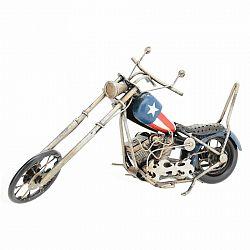 Dekoračný model motorky Chopper, modrá