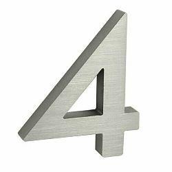 Hliníkové číslo 4 3D brúsený povrch RN.100LV.4.AL.3D