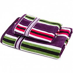 Jahu Sada Stripes Eda uterák a osuška, 70 x 140 cm, 50 x 90 cm