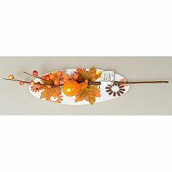 Jesenná vetvička s bobuľami, tekvicou a listami, 40 cm
