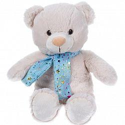 Koopman Plyšový medvedík so šálom béžová, 29 cm