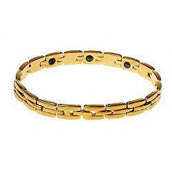 Modom Oceľový náramok s magnetmi, zlatá