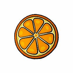 Modom Plážová osuška okrúhla Pomaranč, 150 cm