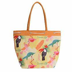 Plážová taška Summer life, oranžová