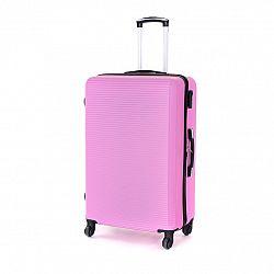 Pretty UP Cestovný škrupinový kufor ABS03 L, ružová