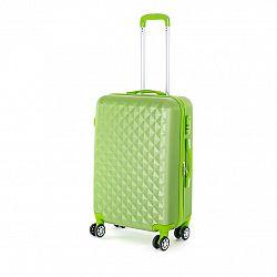 Pretty UP Cestovný škrupinový kufor ABS21 M, zelená