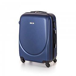 Pretty UP Kufor na kolieskach ABS16 modrá, 43 x 59 x 26 cm