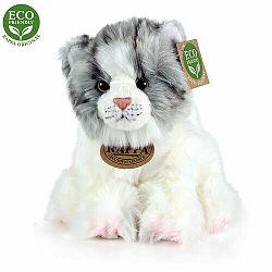 RAPPA mačka bielo-sivá sediaca ECO-FRIENDLY 17 cm
