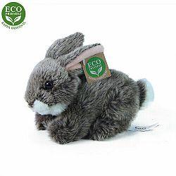 RAPPA Plyšový králik tmavosivý ležiaci, 17 cm, ECO-FRIENDLY