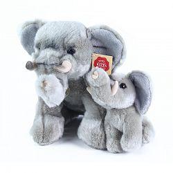 Rappa Plyšový slon s mláďaťom, 27 cm