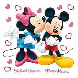 Samolepiaca dekorácia Minnie a Mickey, 30 x 30 cm