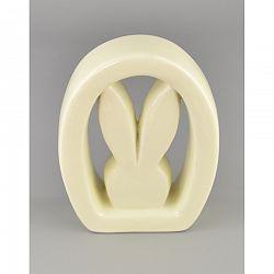 Veľkonočná keramická ozdoba Zajačik vo vajíčku, 12,5 cm
