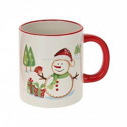Vianočný keramický hrnček Snehuliak, 330 ml