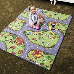 Vopi Detský koberec Farma, 133 x 165 cm